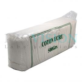 Coton cardé écru marron (500g)