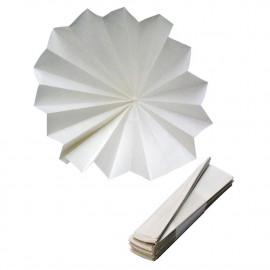 Papier filtre plissé 90mm...